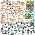 3 otters 120PCS Army Men Military Set, World War Army Men Military Figures and Accessories, Army Guys Toys for Boys