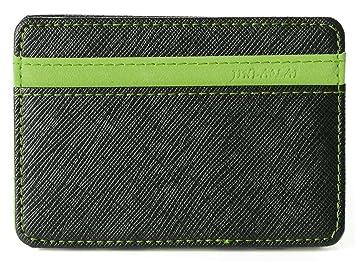 Tuopuda Billetera Mágica Efectivo Identificación Tarjetas Delgada con Broche para Slim Soporte Mini Cartera ID Caso Monedero
