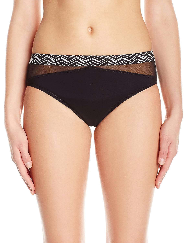 ゴテックスWomen 's大理石Belted Bikini Bottom B01L2LNZO8 12|ブラック/ホワイト