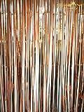 Tinsel foil fringe-backdrop Metallic foil Fringe Curtain/fondale fotografico appeso decorazione per finestra tende, Lamina, Rose Gold, 9x8ft