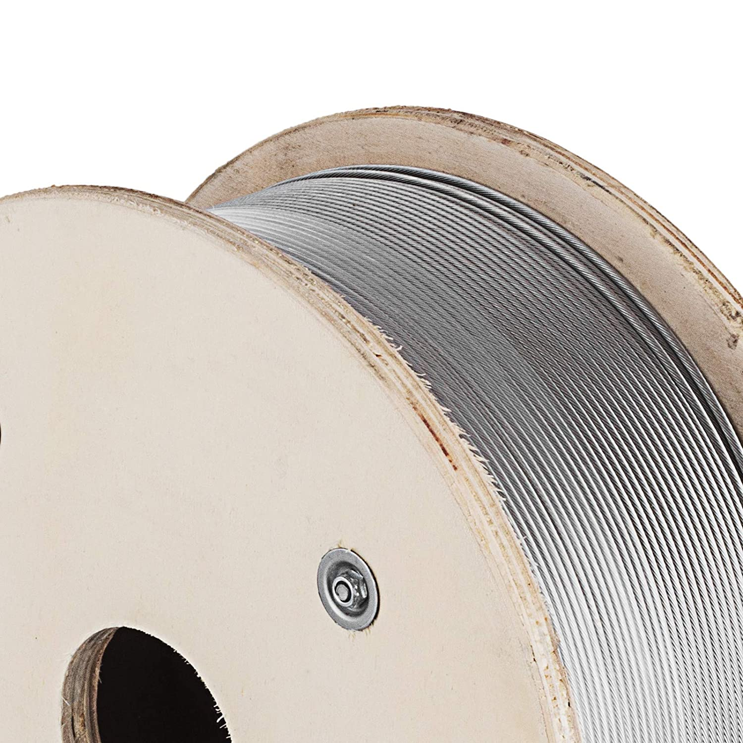 SHZOND T316 Stainless Steel Wire Rope 1000ft Aircraft Wire Rope 1//8 1x19 Type Cable Railing for Decking and DIY Balustrade