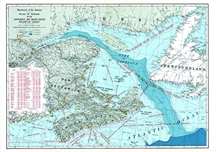 Map Of Canada Resources.Amazon Com Natural Resources Canada Lighthouses And Sailing Routes