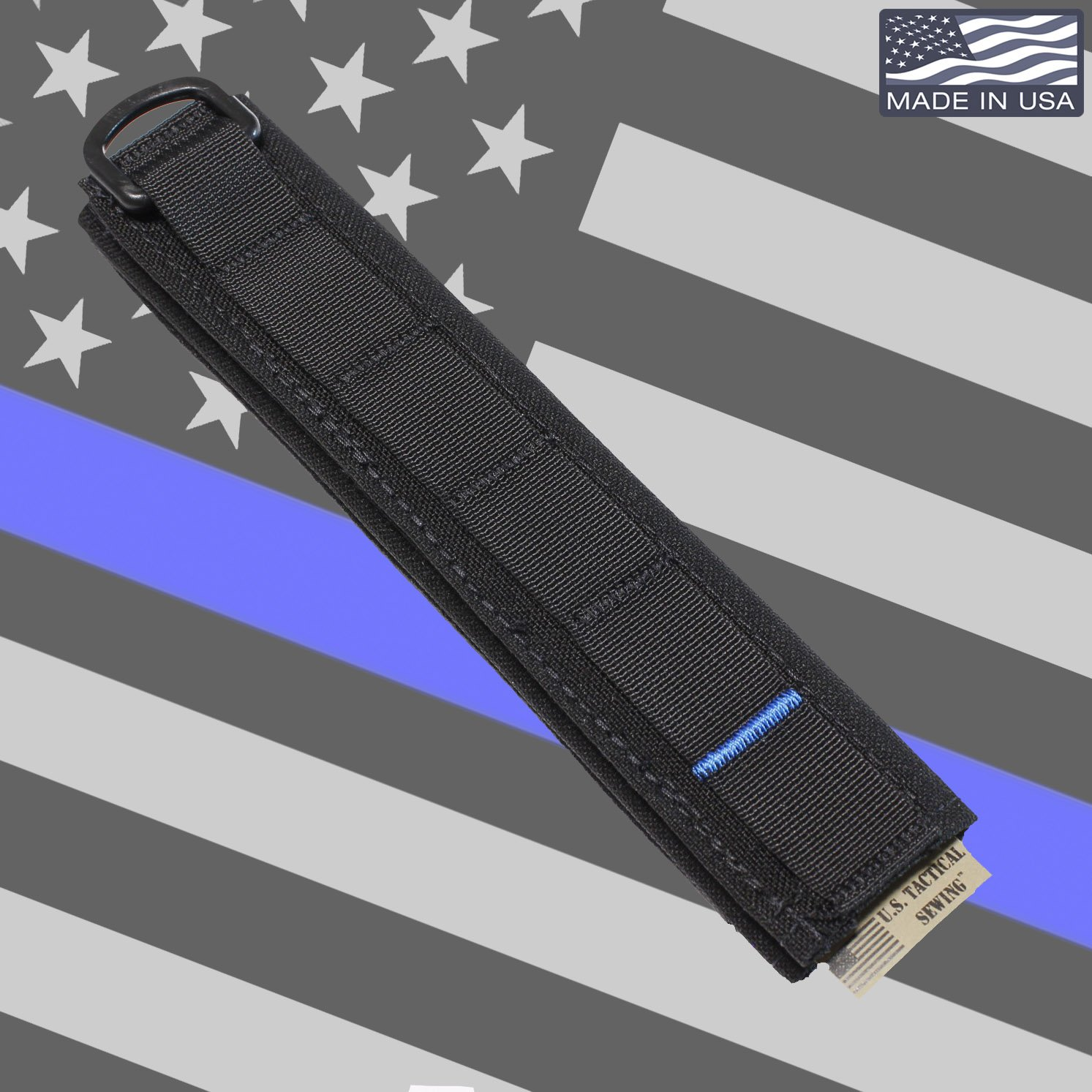 USTS Advanced Modular Headset Cover - Made in The USA (Thin Blue Line) by U.S. Tactical Sewing