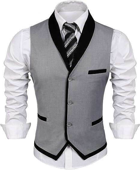 Amazon.com: COOFANDY - Chaleco para hombre de corte ajustado ...