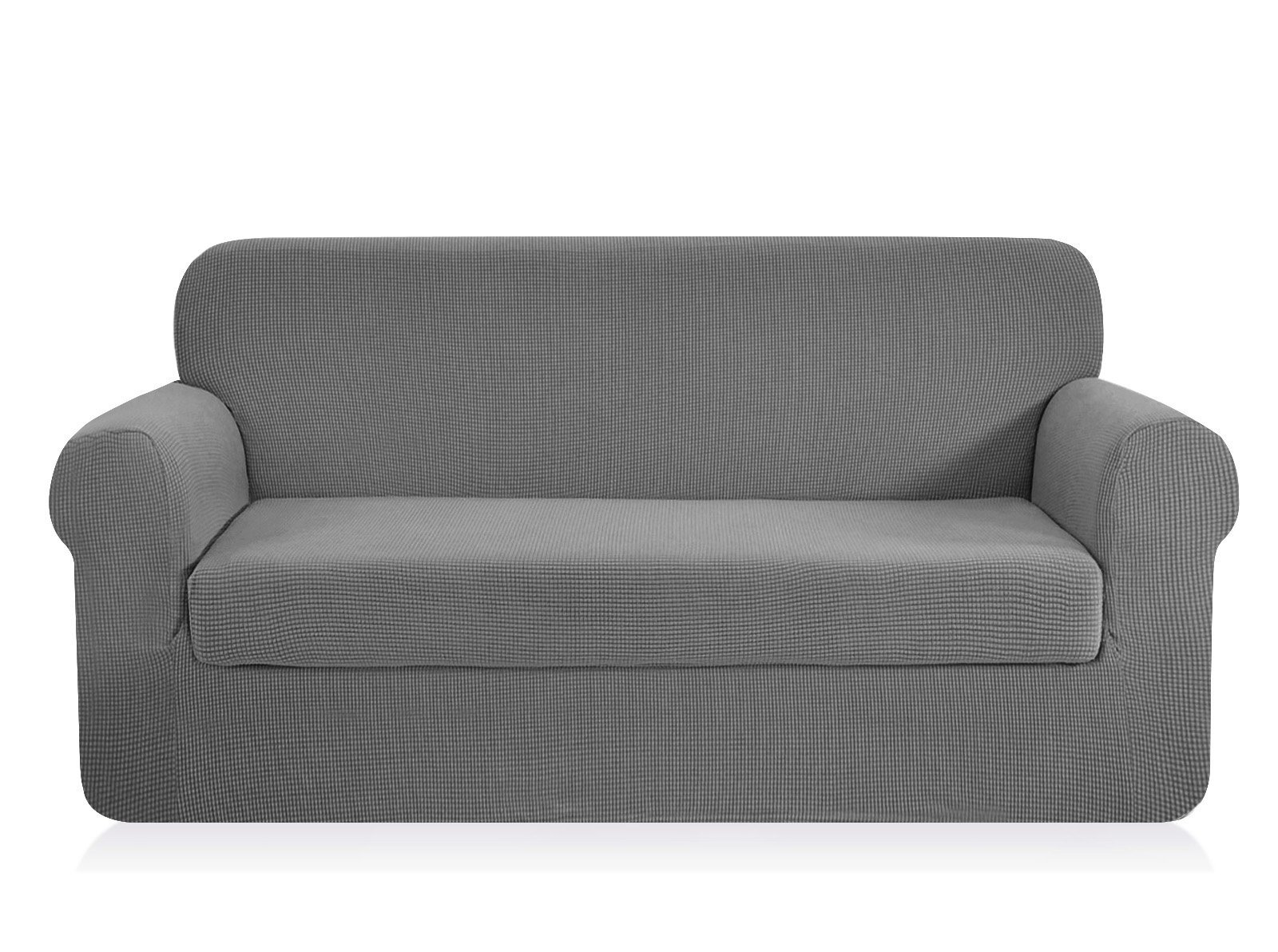 CHUN YI 2-Piece Jacquard Polyester Spandex Slipcover (Sofa, Light Gray)