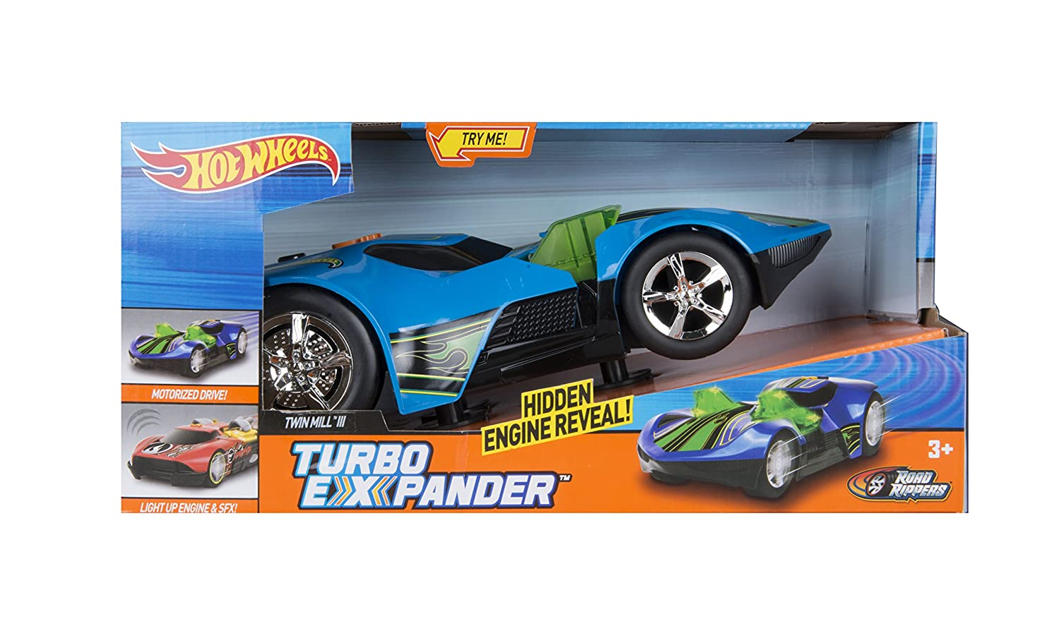 Amazon.com: Toy State Hot Wheels Turbo Expander Twin Mill III Light & Sound Vehicle: Toys & Games