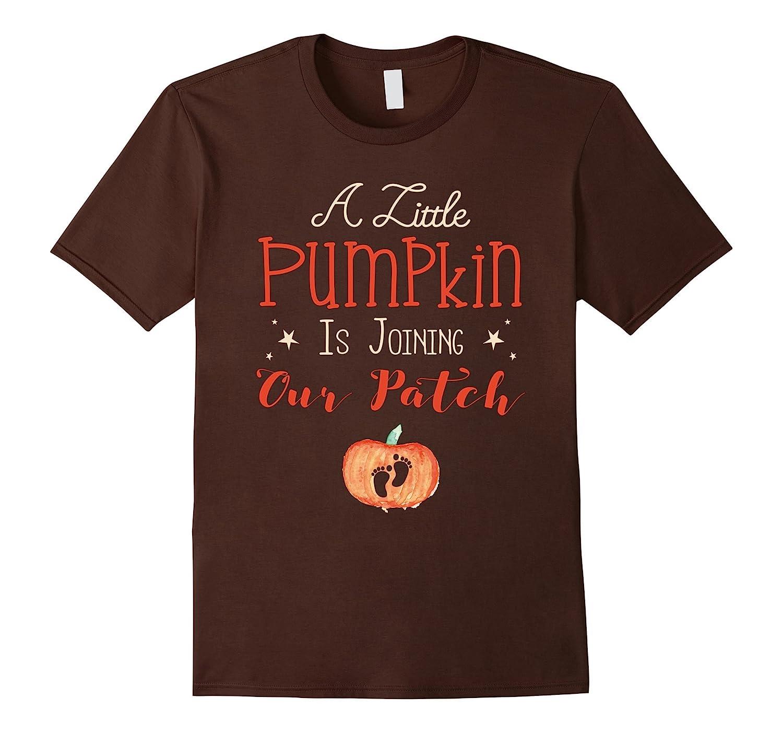 A Little Pumpkin Is Joining - Pregnancy Announcement Shirt-FL
