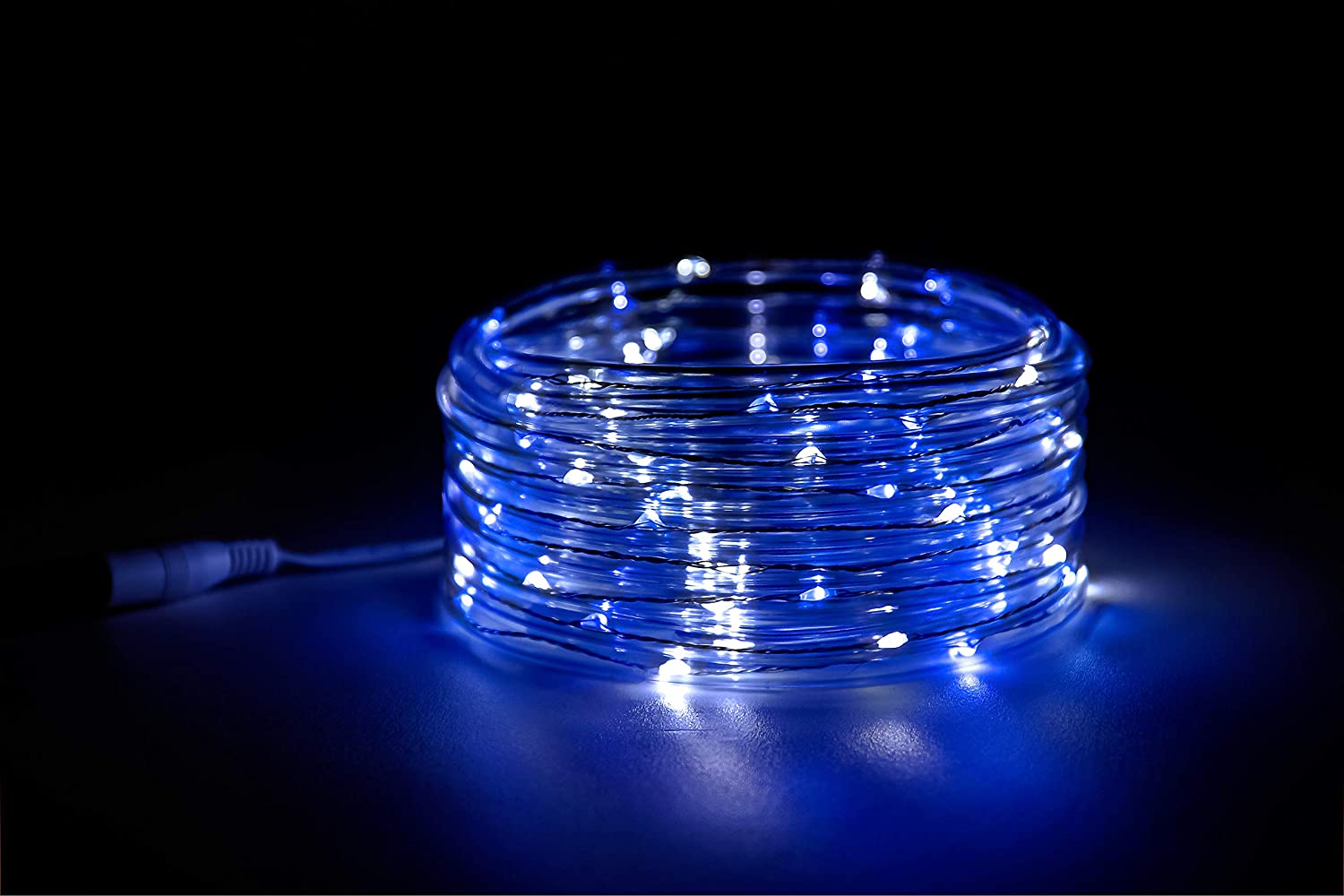 Camco LED 16 Blue and White Rope Camper Interior and Exterior Lighting for Special Occasions and Outdoor Events Fits Into Your RV Awning Track 53094