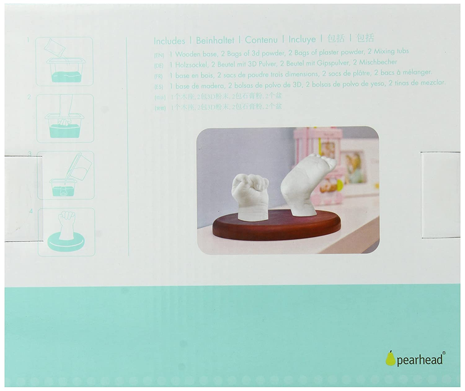 Amazon.com : Pearhead Babyprints 3D Deluxe Kit, Espresso (Discontinued by Manufacturer) : Baby Hand And Footprint Makers : Baby