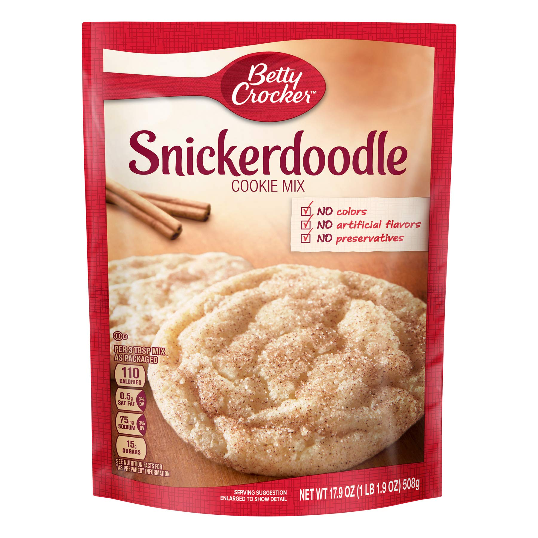 Betty Crocker Snickerdoodle Cookie Mix 17.9 Oz (Pack of 2) by Betty