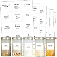 Talented Kitchen 144 Minimalist Pantry Labels Set. Black Print on White Matte Backing, Water Resistant. Spice Jars Vinyl…