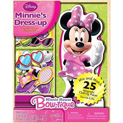 Bendon Disney Minnie Mouse Wooden Magnetic Playset, 25-Piece: Toys & Games