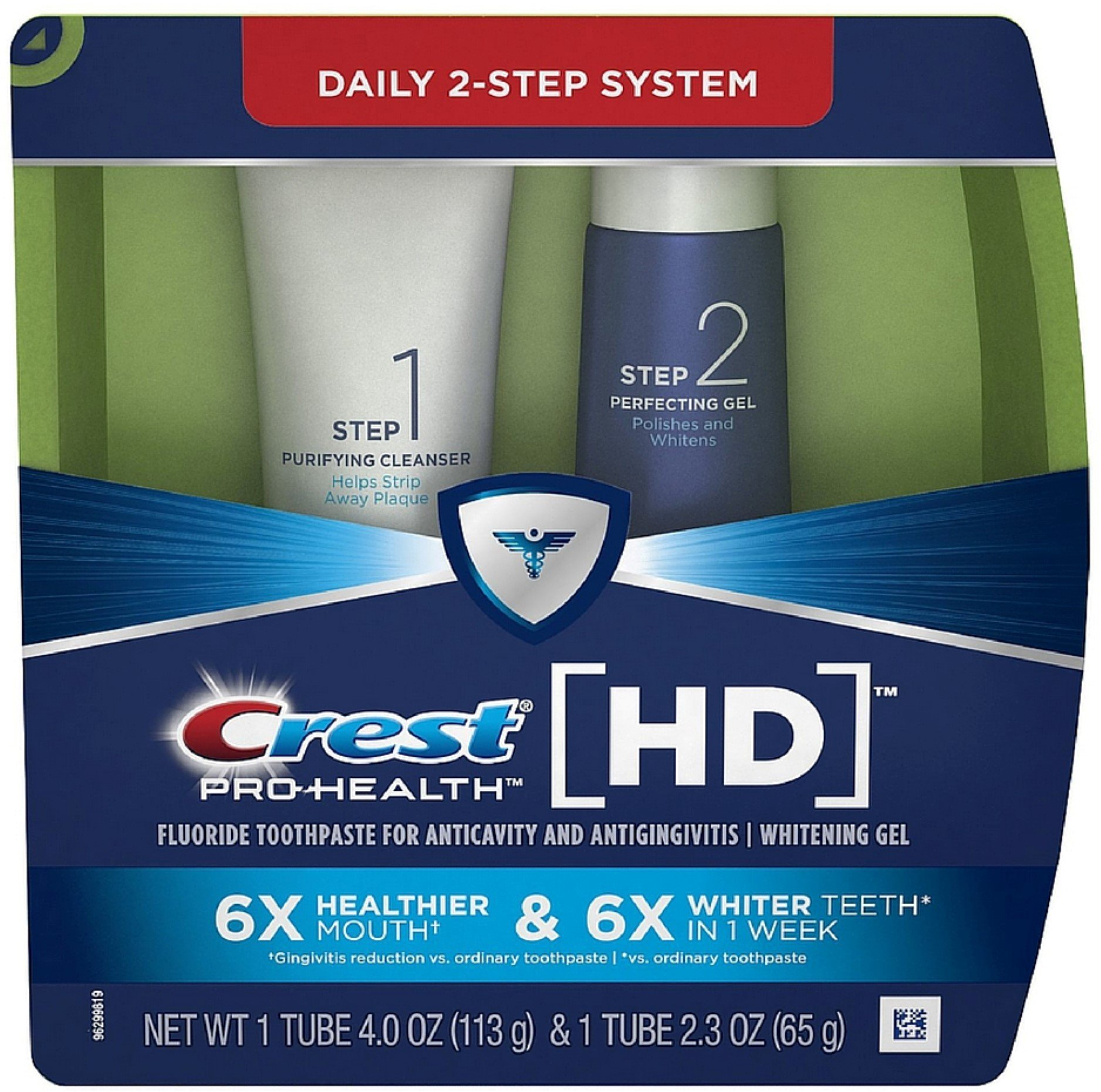 Crest Pro-Health HD Daily Two-Step Toothpaste System 1 ea (Pack of 6) by Crest