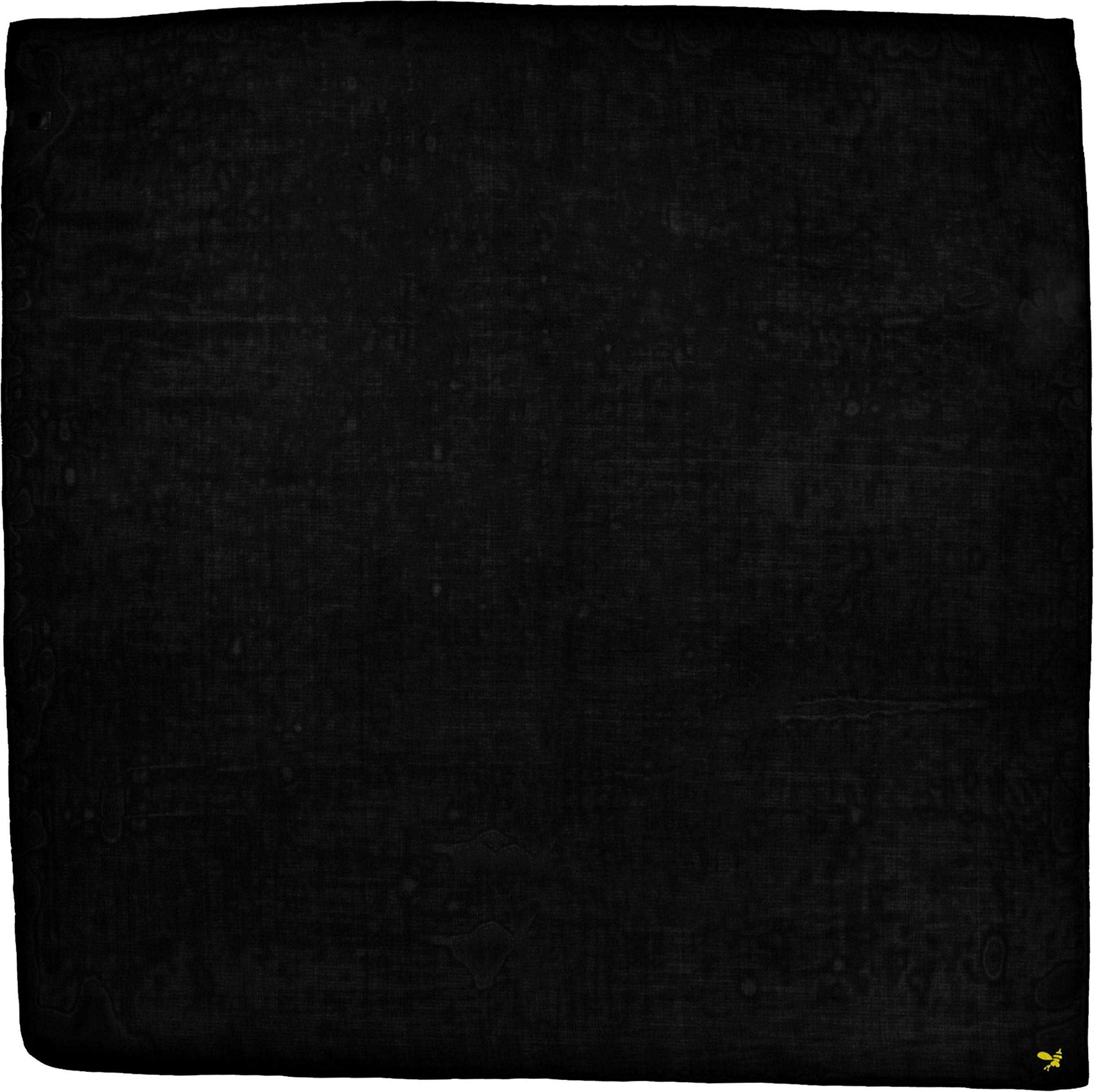 Black Large Very Fine Pure Silk Square Scarf by Bees Knees Fashion (Image #1)