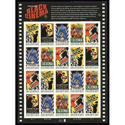 Vintage Black Cinema 20 x 42 cent U.S. Postage U.S. Postage Stamps: Toys & Games