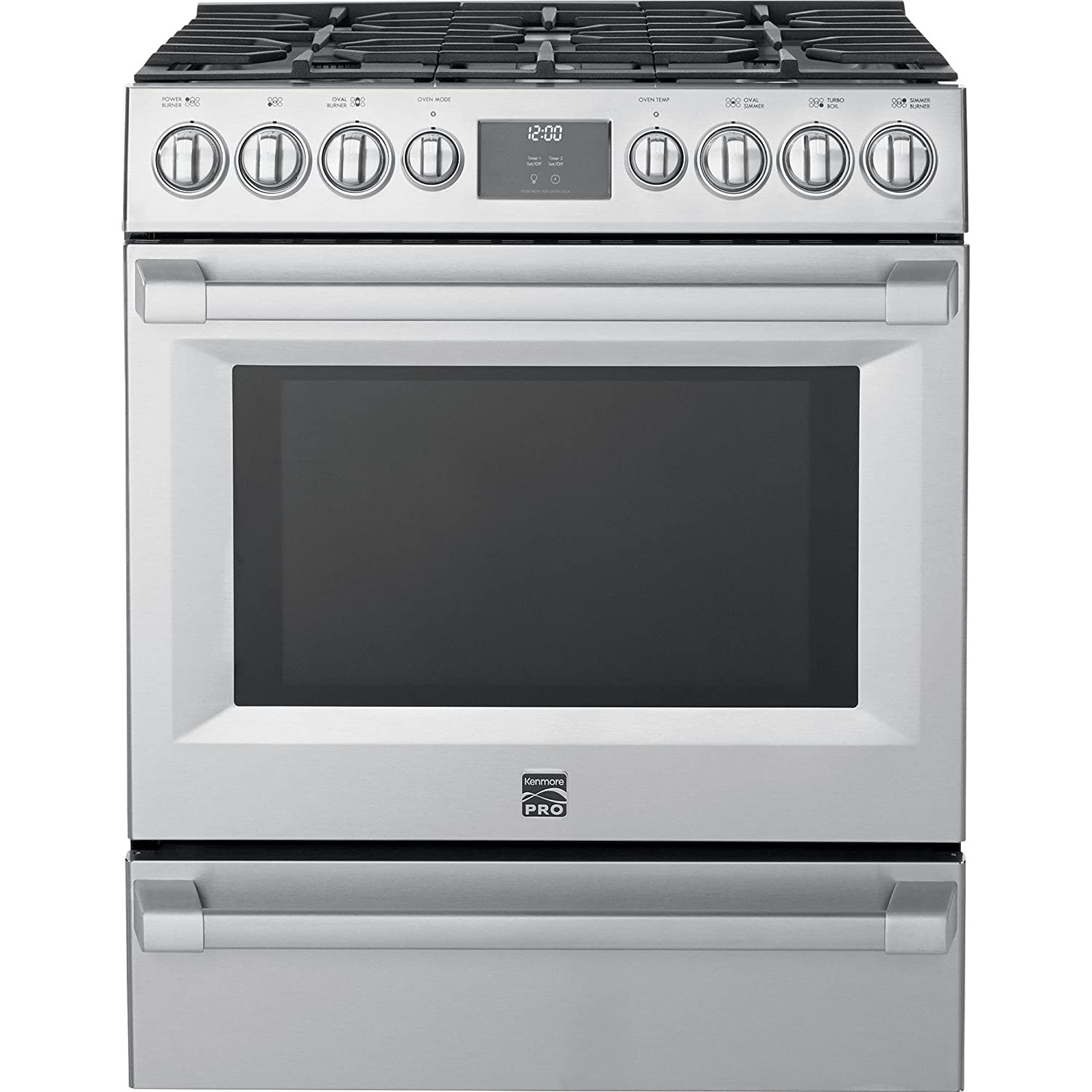 Amazon.com: Kenmore PRO 5.1 cu. ft. Self Clean Gas Range in Stainless  Steel, includes delivery and hookup -02272583: Appliances