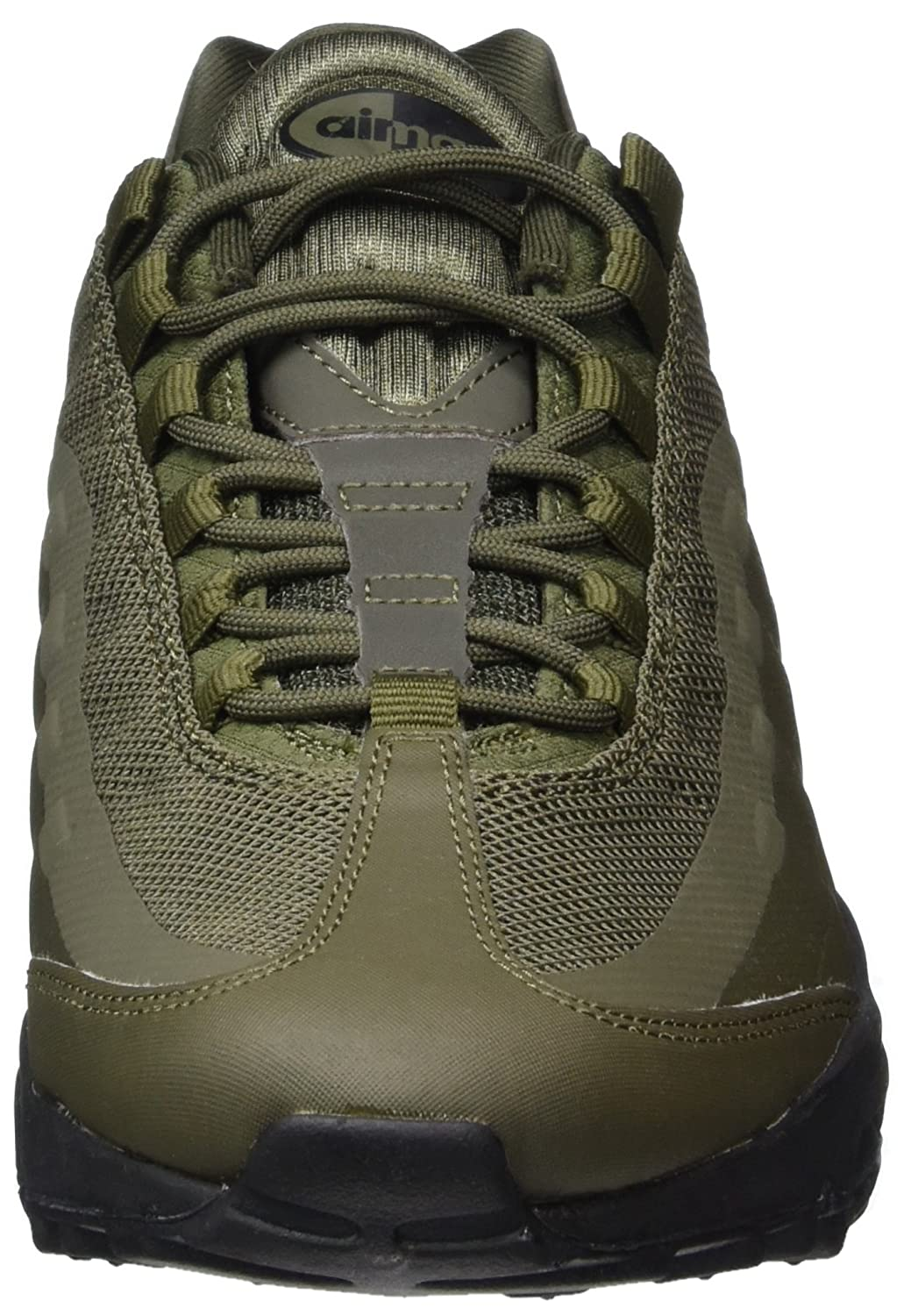 reputable site 121e5 61c86 Nike Men s s Air Max 95 Ultra Essential Gymnastics Shoes Green (Cargo Khaki  Black), 7.5 UK  Amazon.co.uk  Shoes   Bags