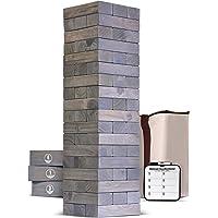 Torre Gigante de Madera GoSports (se apila a más de 5 pies)   Incluye Reglas de bonificación con Tablero de Juego   Hecho de Bloques de Pino Premium