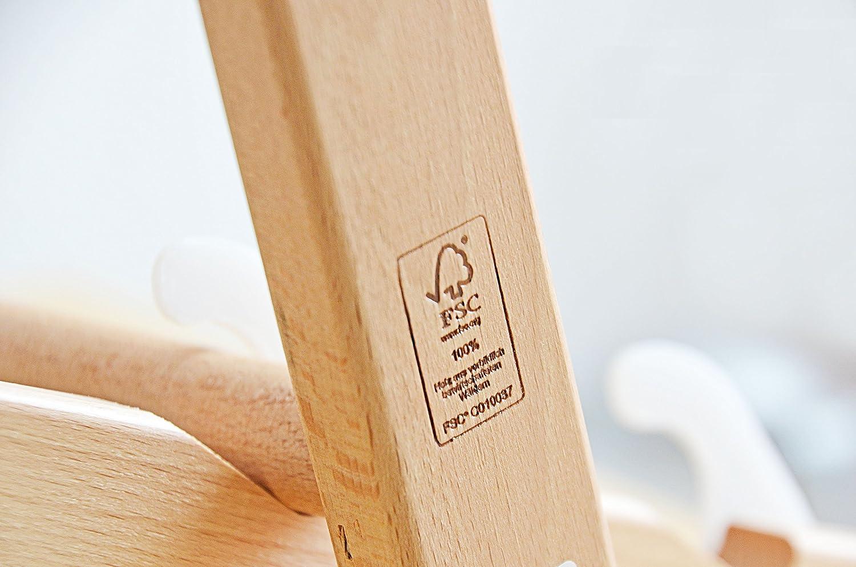 Wei/ß ohne Armlehne mit wechselbaren Stoffbezug Holz 2 x Liegestuhl klappbar