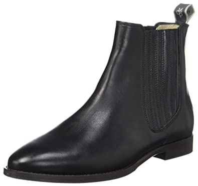 Flat Heel 70714155001113, Botas Chelsea para Mujer, Schwarz (Black), 37 EU Marc O'Polo