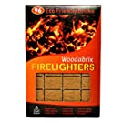 Natural Wood Eco Firelighters 96 pcs. Ideal for Indoor and Outdoor Use. Lights Even When Damp. (600 GR)