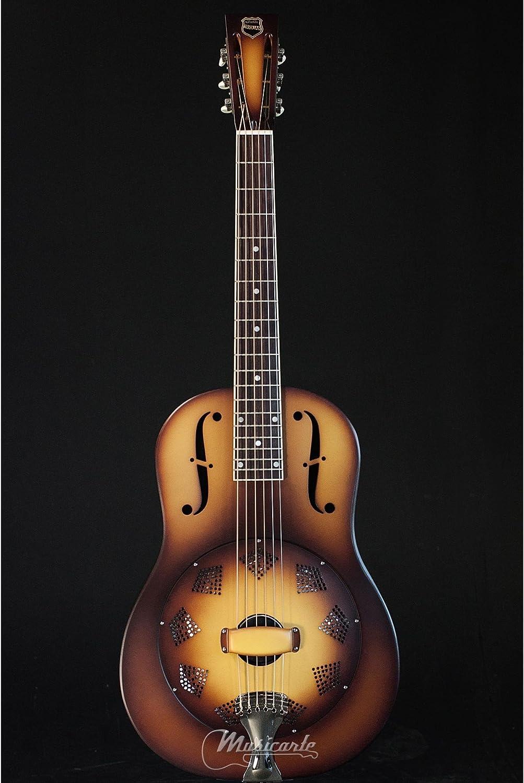 National triolian Single Cone Resophonic Guitar (Steel Body) Dobro ...