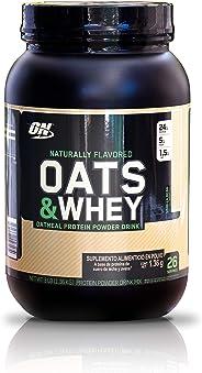 OPTIMUM NUTRITION 100% PROTEÍNA OATS & WHEY en Polvo, 24 g de proteína de suero para el desarrollo muscular, 3 libras (26 se