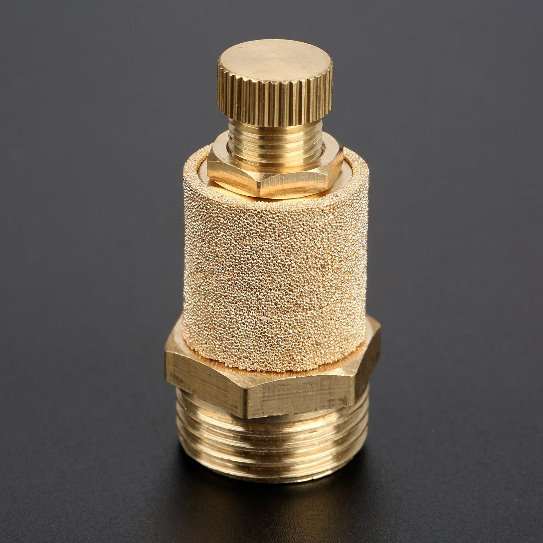 1//4 Pneumatische Schalld/ämpfer Schalld/ämpfer Filter Air Flow Speed Controller gesintert Bronze NPT