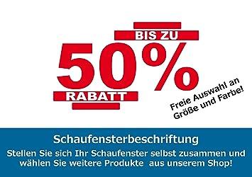Sh232 Bis Zu 50 Rabatt Schaufensterwerbung Schaufensteraufkleber