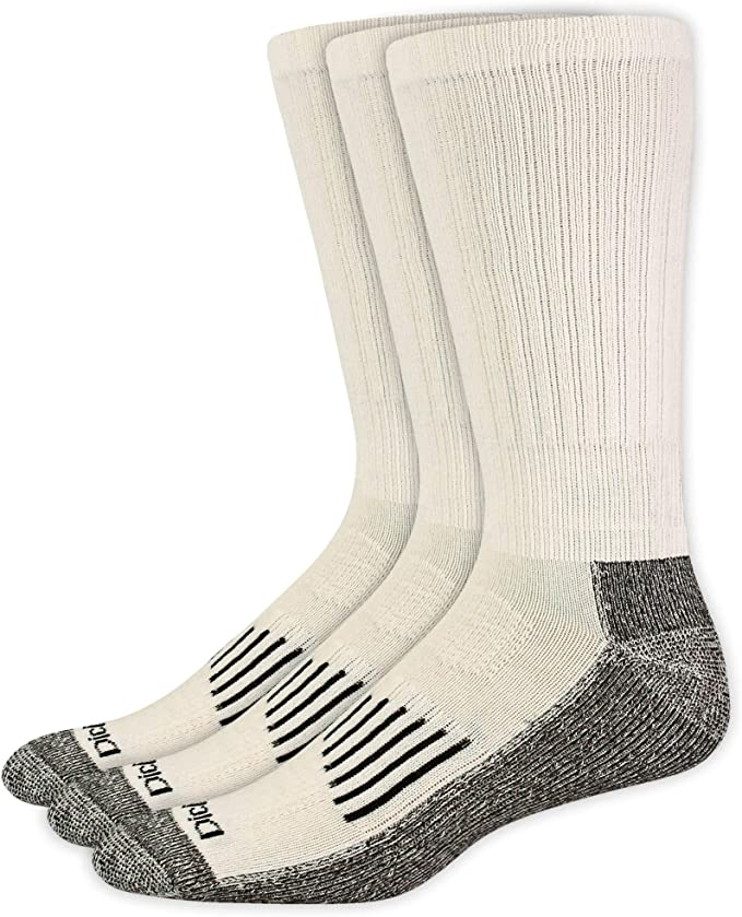6 Pairs Dickies Mens Thick Cushioned Industrial Crew Padded Work Socks Shoe 6-12