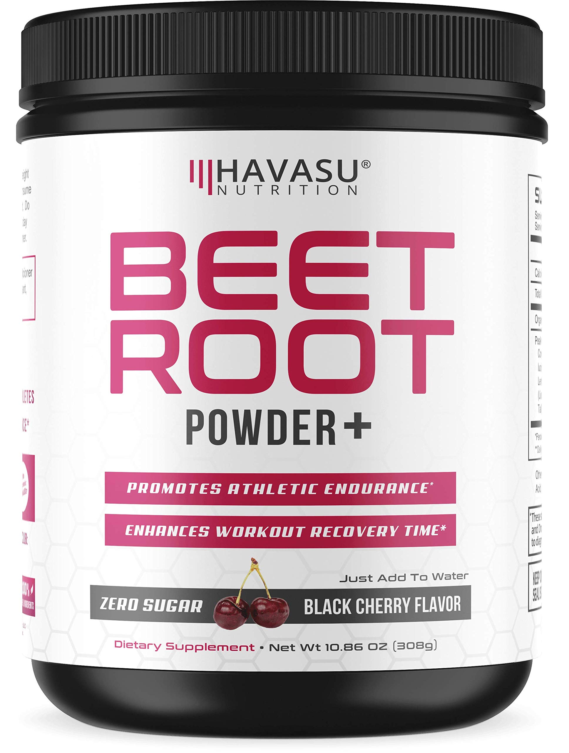 Beet Root Powder with Patented, Organic PeakO2 & Mushroom Blend - Supports Fast Workout Recovery & Promotes Athletic Endurance; No Sugar, Non-GMO by Havasu Nutrition (Image #1)
