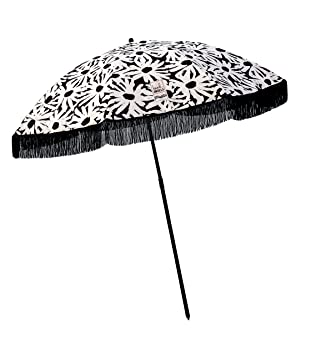 Beach Umbrella, Laguna with Fringe, Designed by Beach Brella - 100% UV Sun Protection, Lightweight, Portable & Easy to Setup in The Sand and Secure in The Wind