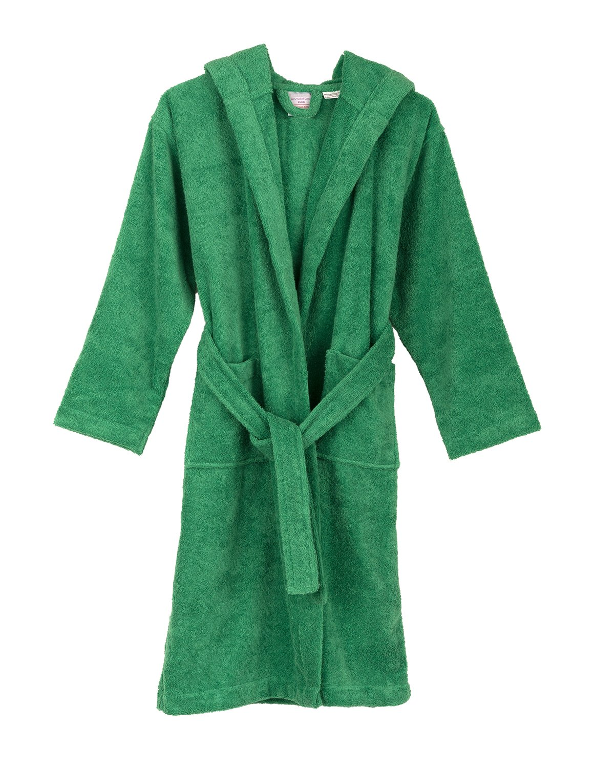 TowelSelections Little Girls Robe, Kids Hooded Cotton Terry Bathrobe Cover-up Size 6 Jelly Bean