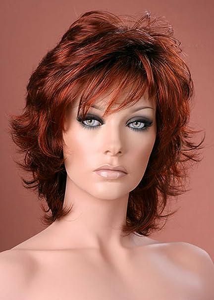 Forever Young 33h135 Parrucca Da Donna Capelli Corti Effetto Scompigliato Colore Castano Ramato