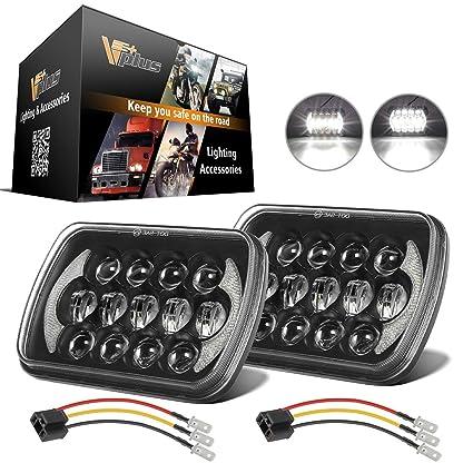 Amazon.com: (Pack of 2) 5x7 Led Headlights 7x6 Led Sealed ... on