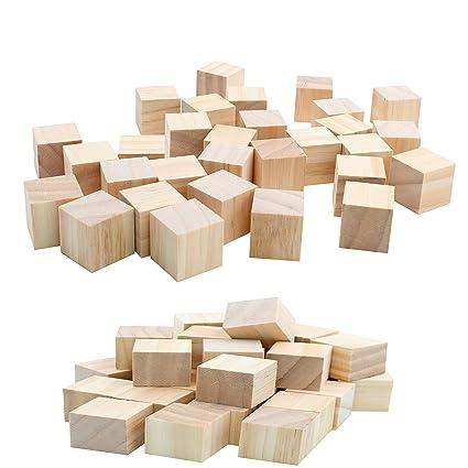 Amazoncom 30pc Blank Real Wood Natural Alphabet Blocks For