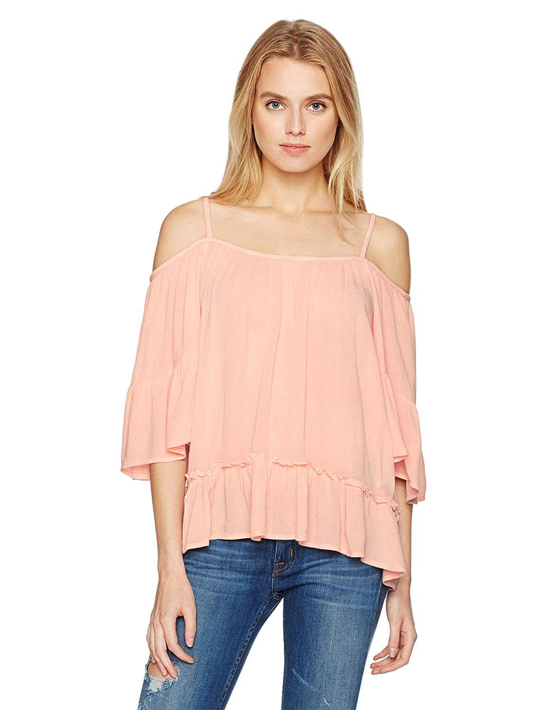 d24aab43ba46b VERO MODA Women s Bom Cold Shoulder Top at Amazon Women s Clothing store