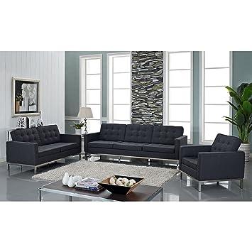 Amazon.com: modway Woolen Florencia estilo Sillón Loveseat y ...