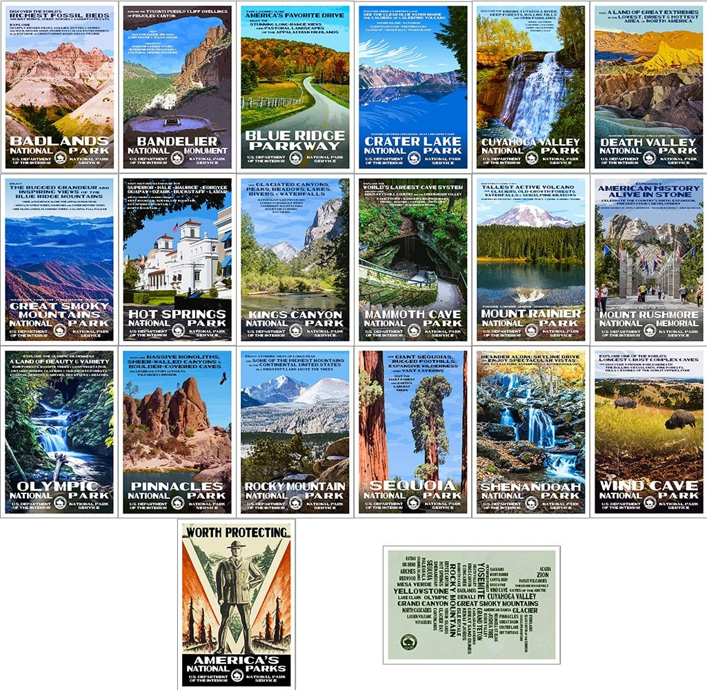 Robert B. Decker National Park Postcards (Series B)