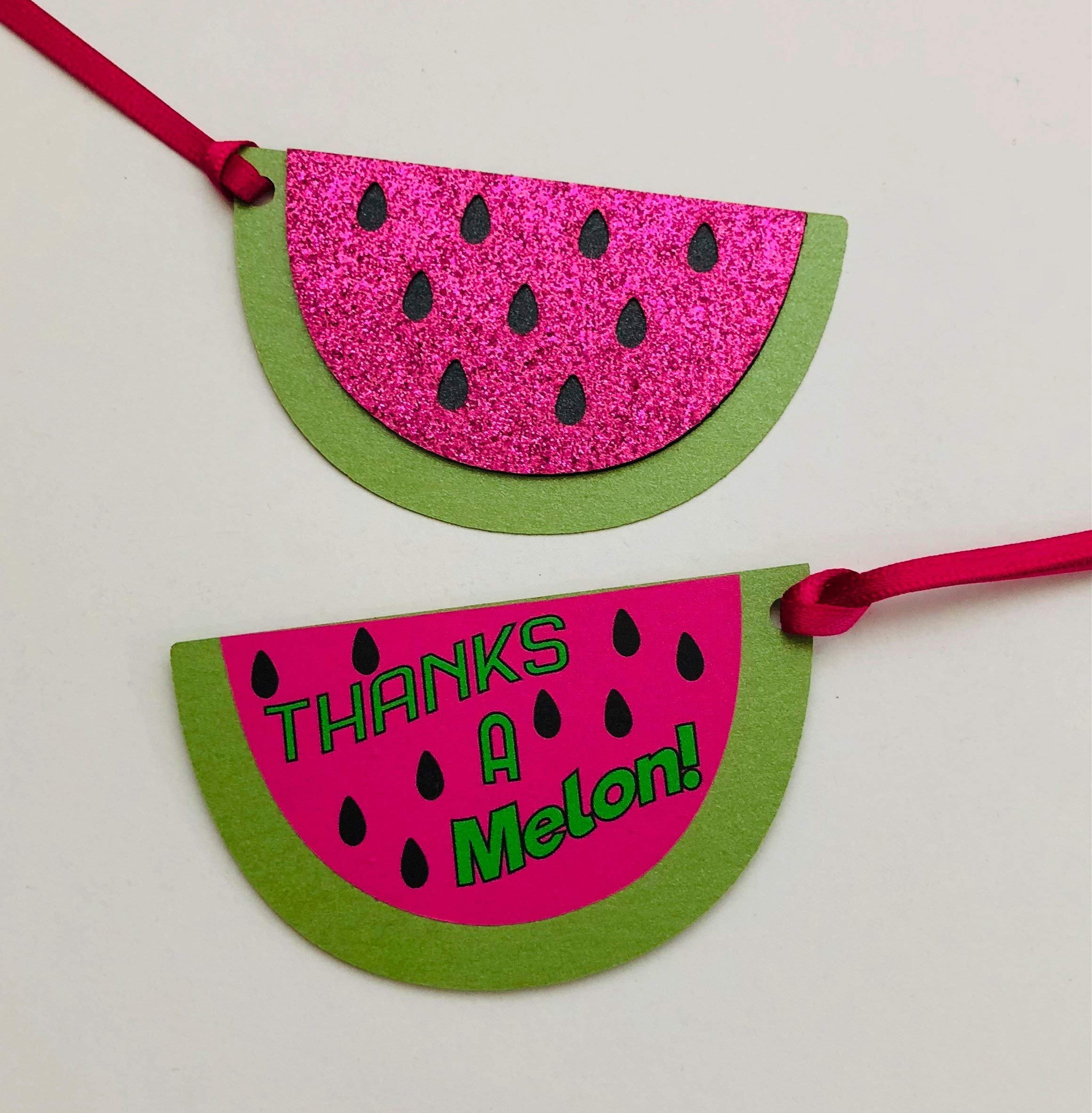 Thanks a Melon Summer Watermelon Party Thank You Favor Tags - Set of 12