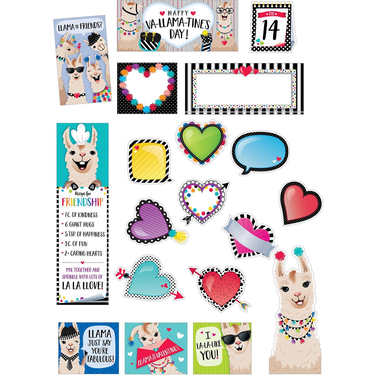 Creative Teaching Press Bold & Bright Happy Va-Llama-Tine's Day Mini Bulletin Board, CTP (3117)