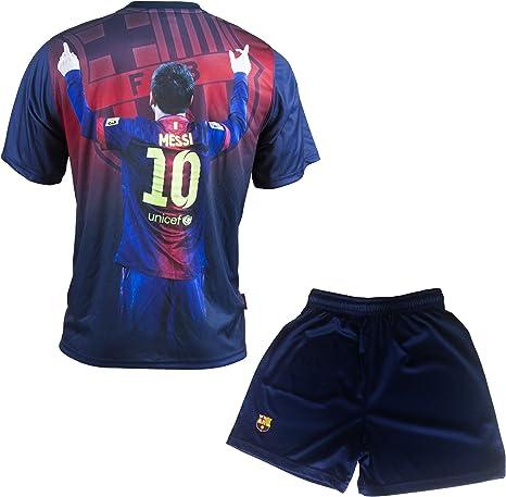 Fc Barcelone - Conjunto Oficial de Camiseta y Pantalones Cortos ...