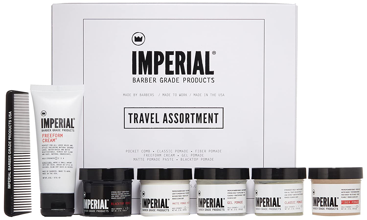 Amazon com: Imperial Barber, Travel Set, Includes, Classic