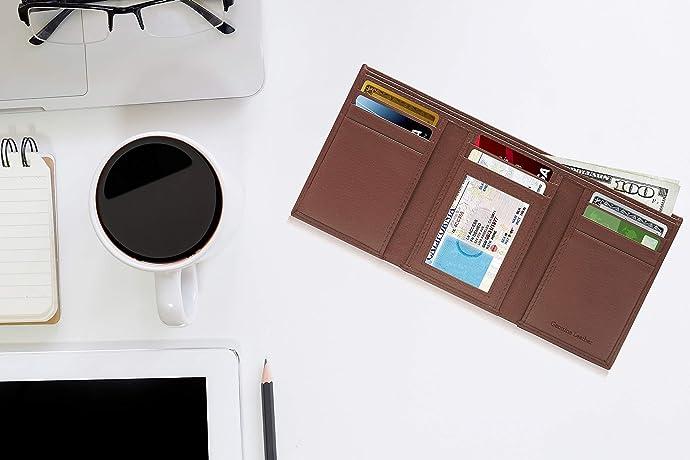 金盒特价 Access Denied 手工制 防RFID信息窃取 男式三折钱包 6.7折$19.99 多色可选 海淘转运到手约¥153