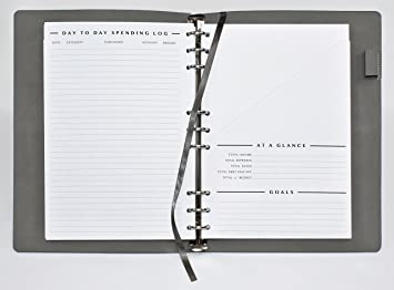 amazon clutterout complete undated monthly finance planner