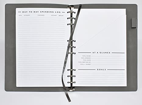 amazon com clutterout refillable soft cover undated monthly