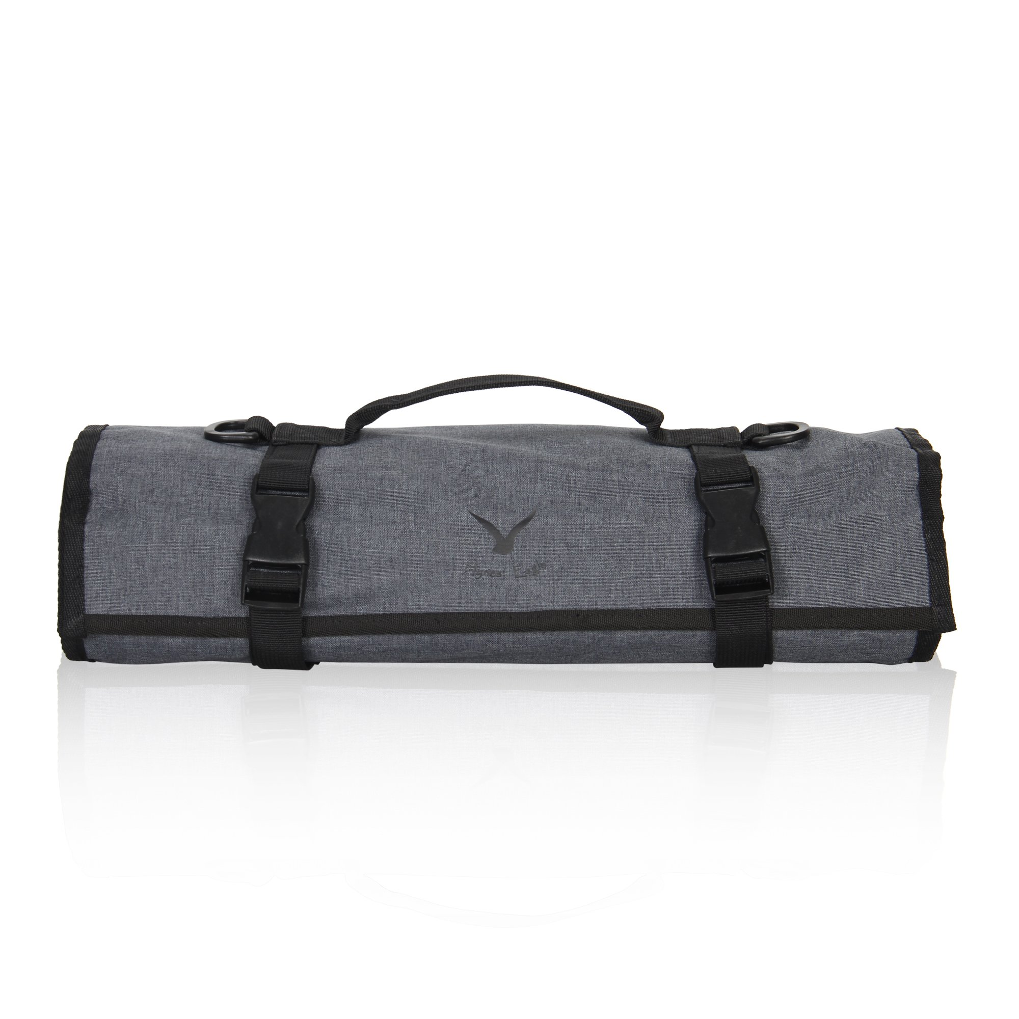 Hynes Eagle Lightweight Roll-Up Travel Bag Portable Compression Cross Body Packing Organizer for Camping Boating Motorcycle Trip Quick Flight, Grey