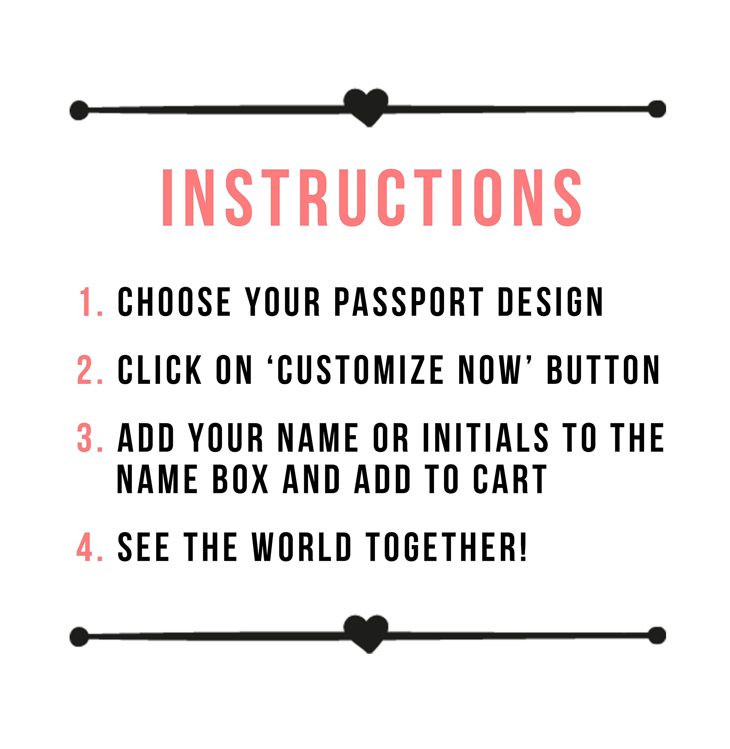 Mr And Mrs - Couple Passport Holder Personalized Passport Cover Set of 2 by With Love From Julie (Image #7)