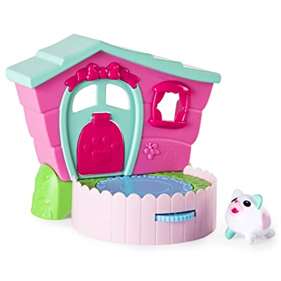 Chubby Puppies & Friends – 2-in 1 Flip N' Play House Playset with Valentia Kitty Collectible Figure: Toys & Games [5Bkhe1900646]