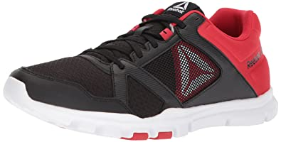Reebok Men s Yourflex Train 10 Mt Cross Trainer Black Primal red White 7 M ececb2f31